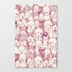 just alpacas cherry pearl Canvas Print
