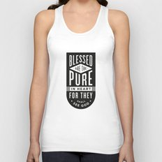Blessed are the pure in heart Unisex Tank Top