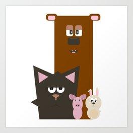 Animals Kingdom Art Print