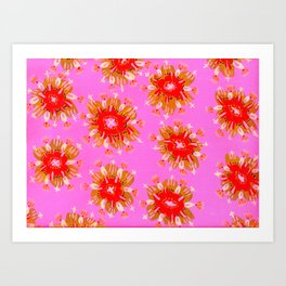 Orange Christie Rose Art Print