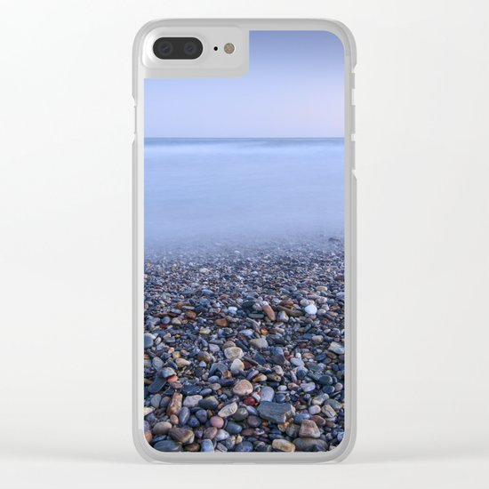 """""""Multicolored beach"""". At sunset Clear iPhone Case"""