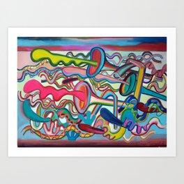 Composición verano 2 Art Print