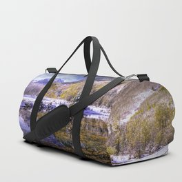 Autumn Reflections In Beaver Pond Aspen Colorado  by OLena Art brand for #society6 Duffle Bag