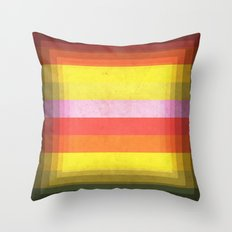 Warm Color Stripes Throw Pillow