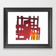 Dawn at metropolis Framed Art Print