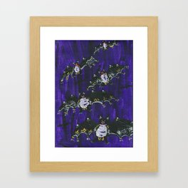 Black Bats Framed Art Print