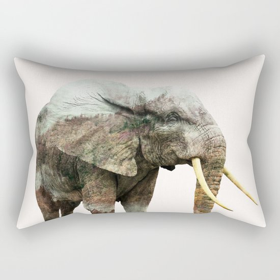 Elephant Transformation #society6 #decor #animalprint Rectangular Pillow