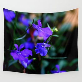Blue Flower Wall Tapestry