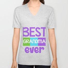 Family Tree Kinship Ancestry Household Love Bloodline Ancestors Best Grandma Ever Grandmother Gift Unisex V-Neck