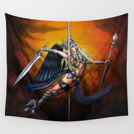 Pole Creatures: Valkyrie Wall Tapestry
