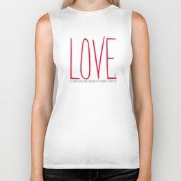 love is  Biker Tank