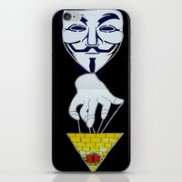 anonymous iPhone & iPod Skins featuring Anonymous by Edgar Huaracha