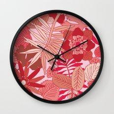 Botanic in Rose Wall Clock