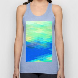 Re-Created Vertices No. 32 by Robert S. Lee Unisex Tank Top