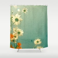daisy Shower Curtains featuring Daisy by Cassia Beck