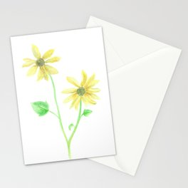 Simple Sunflower Stationery Cards