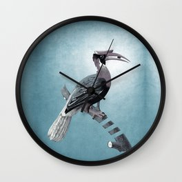 Vintage poster: bird  Wall Clock
