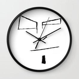 Sketch Face Wall Clock