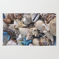 seashell Area & Throw Rugs featuring Seashell by Sowthistle