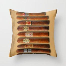 Cigar Sampler Painting Cigars Throw Pillow