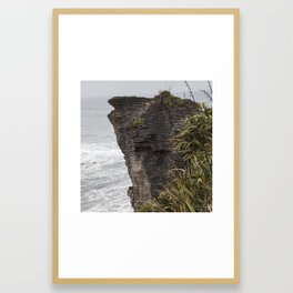 Pancake rocks New Zealand Framed Art Print