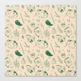 Garden Witch Pattern Canvas Print