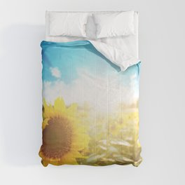 sunflower field Comforters