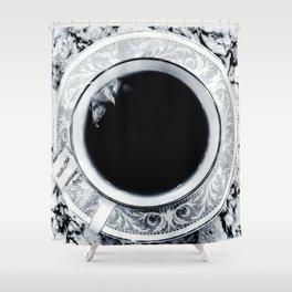 Obsidian Peace Shower Curtain