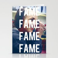 britney spears Stationery Cards featuring FAME - BRITNEY SPEARS by Beauty Killer Art