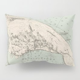 Vintage Map of Provincetown MA (1892) Pillow Sham