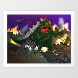 """""""Big Snake Vs. Big Lizard"""" (Farts 'N' Crafts episode 3) Art Print"""