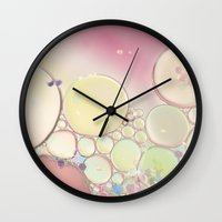 kaleidoscope Wall Clocks featuring Kaleidoscope by Beth - Paper Angels Photography
