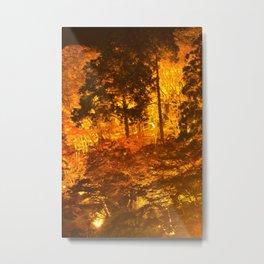 Japanese Autumn Garden Metal Print