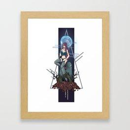 Zombie & Vampire Framed Art Print