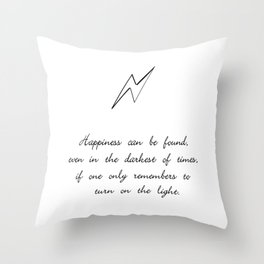 you can find happiness Throw Pillow