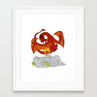 narnia Framed Art Prints featuring TO NARNIA by Crystalwhisker