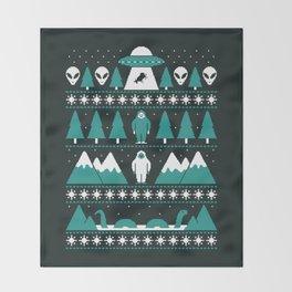 Paranormal Xmas Throw Blanket