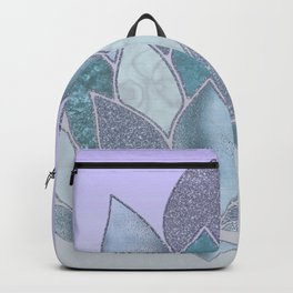 Elegant Glamorous Pastel Lotus Flower Backpack