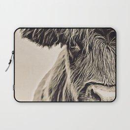 Vintage Highland Cow Laptop Sleeve