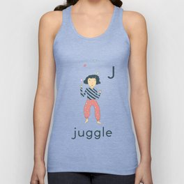 J is for Juggle Unisex Tank Top