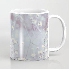 Wild Abandon -- Dreamy Fleabane Daisies in Lavender Gray Mist Coffee Mug