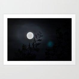 Beneath the full moon Art Print