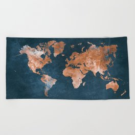 world map 15 Beach Towel