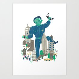 MY FATHER... IS A COP Art Print