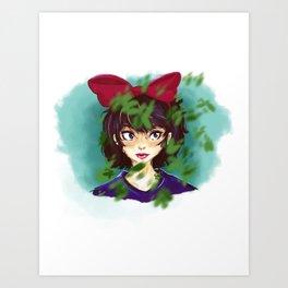 Caen las hojas Art Print