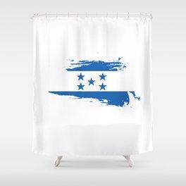 Honduras Flag Gift Men Women Kids Retro Shower Curtain