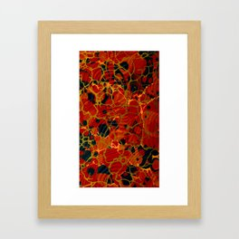 Marbelous Copper and Gold Framed Art Print