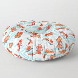 Watercolor Goldfish Floor Pillow
