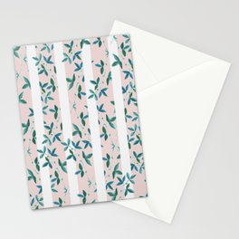 Peeping Pink Flowers Stationery Cards