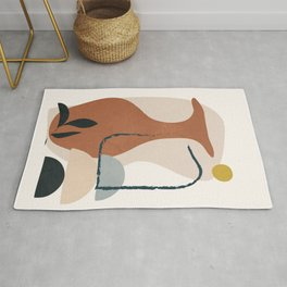 Abstract Vase Rug